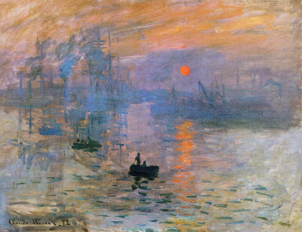Claude Monet, Impression, Sunrise, 1872-74