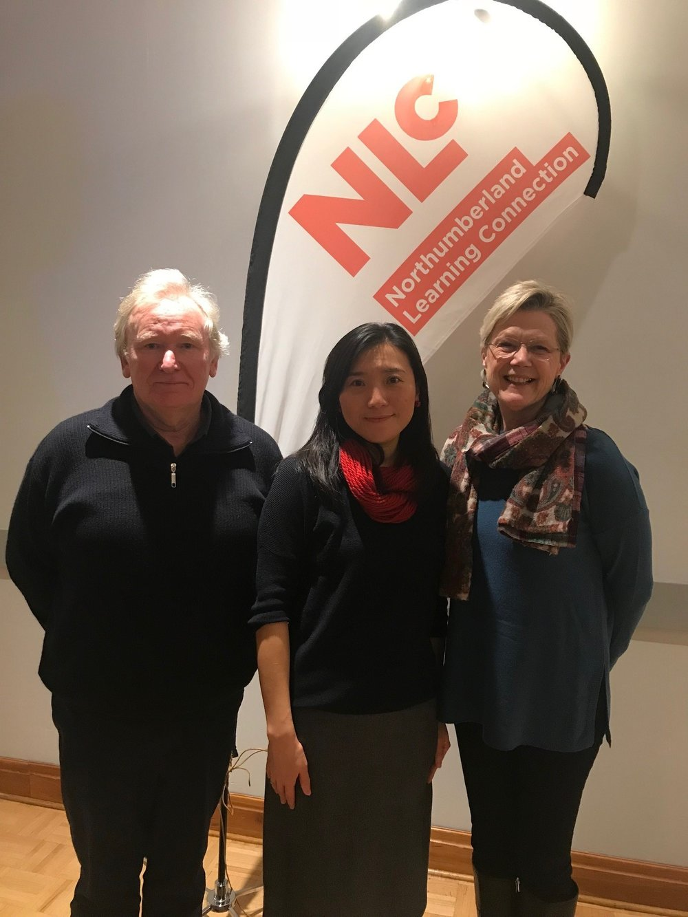 Evi Gu with NLC Board member Andrew Gregg and Founder Joanne Bonebakker