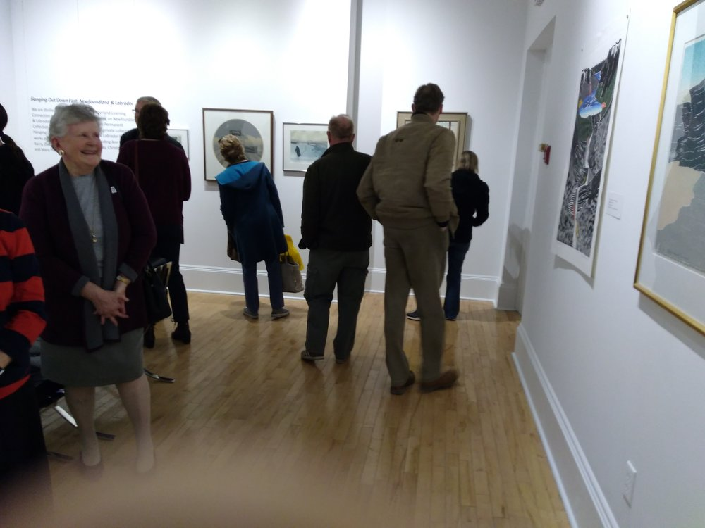 Gallery opening guests