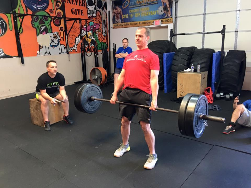 Roger Whitney trying his hardest to fit in as the interloper at CrossFit.