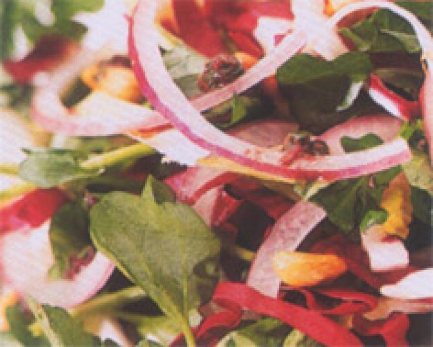 Peppery Lettuce Salad with Tapenade Vinaigrette.jpg