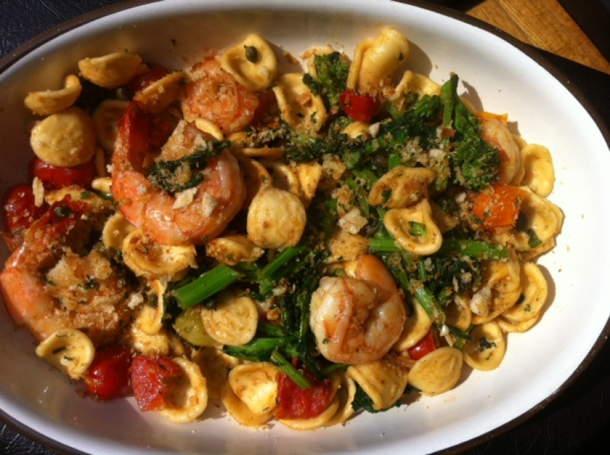 Orecchiette with Rapini, Shrimps and Cherry Tomatoes.jpg