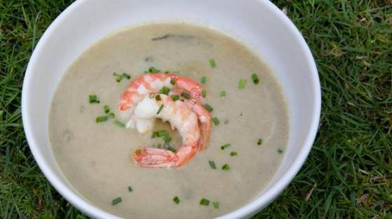 Sorrel soup with spot prawns.jpg