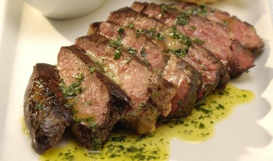 Roast rib-eye steaks with whisky-pepper butter.jpg