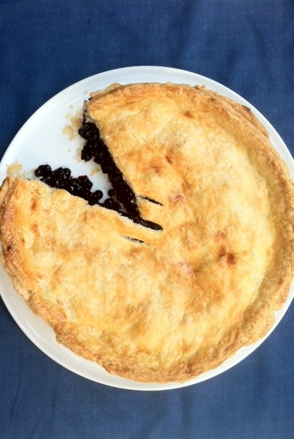 Wild blueberry pie (with decadent flaky crust).jpg