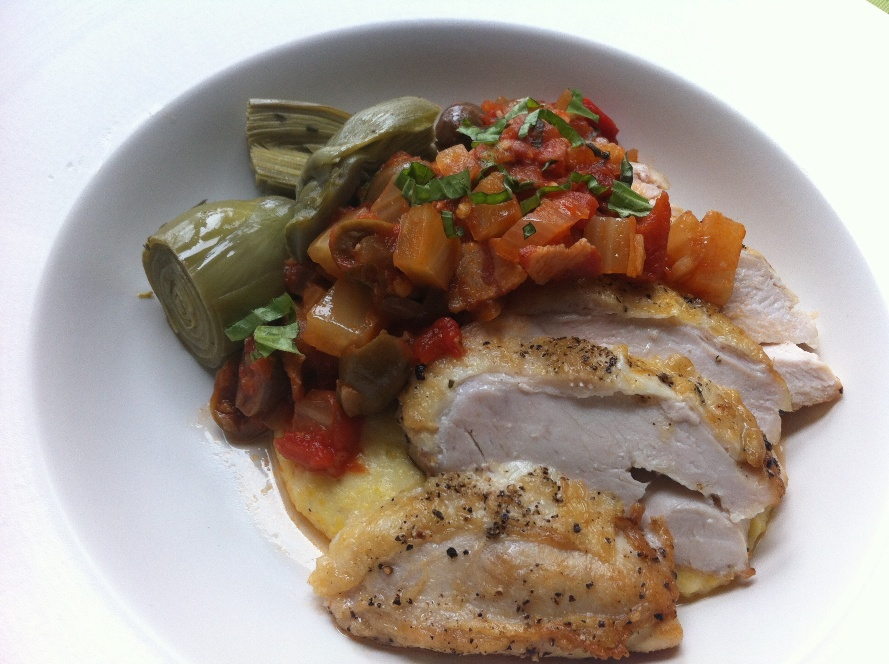 Roasted chicken with tomato-fennel sauce.jpg