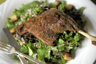 Duck Confit with Bitter Lettuce Salad.jpg