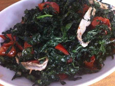 Crispy Kale with White Anchovies, Peppers and Roasted Tomatoes.jpg
