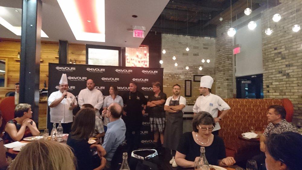 A Taste of Devour chefs: John Higgins, Glenn White, Charlotte Langley, Michael Blackie, Michael Howell, Jason Bangerter and Peter Dewar.