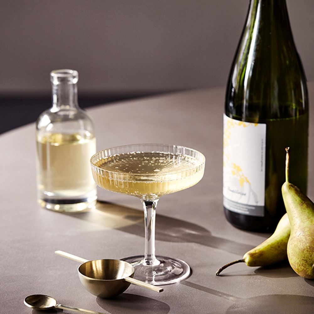 Ripple Champagne Saucers - by ferm living. £29 for pair