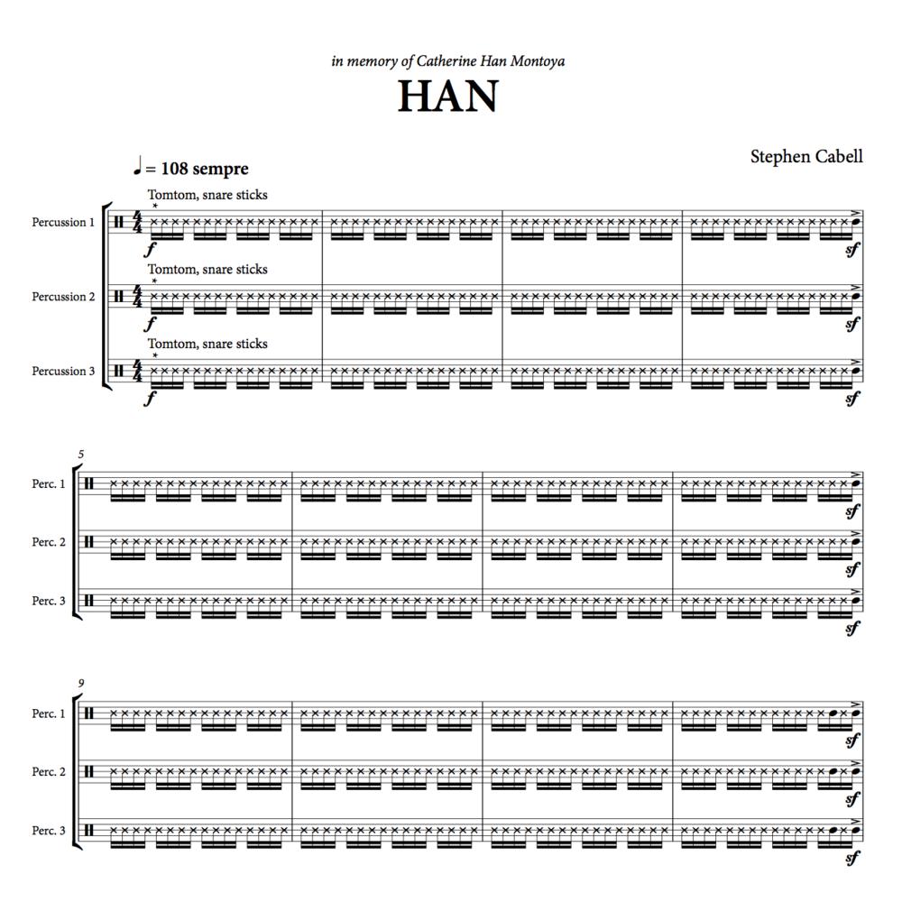 HAN full score: page 1