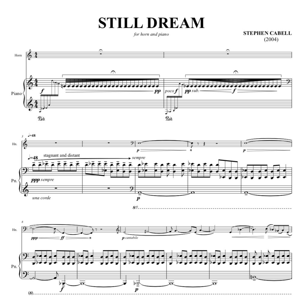 STILL DREAM full score: page 1