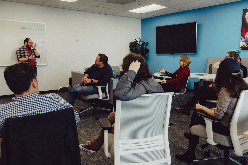 A peek into a developer's meeting. Photo by Rozette Rago.