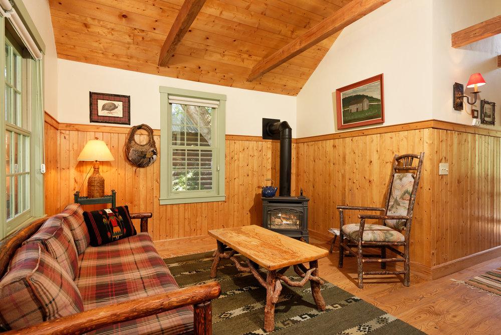 Aspen Guest Cabin Sitting Room