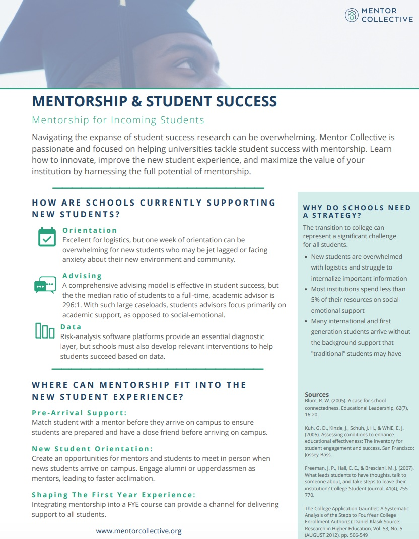 Mentorship and Student Success Strategies - Mentorship can make a significant impact on students success. Read our whitepaper to learn how.Read more…
