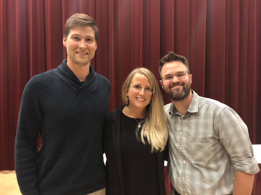 Pictured: Mitchell Kerr, Dr. Erin Adlakha, and Glen Hodge.