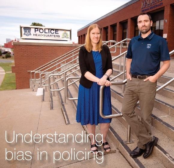 Psychology prof Dr. Meg Ternes (SMU) with Dr. Chris Giacomantonio (HRP).