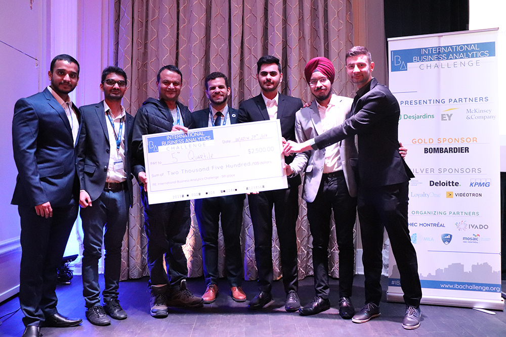 Students Vinay Govindan, Sunil Padikar, Diven Sambhwani, Caner Irfanoglu, and Gaganpreet Singh finished in 5th place in the global Challenge.