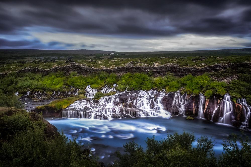 Hraunfossar Lava Waterfalls