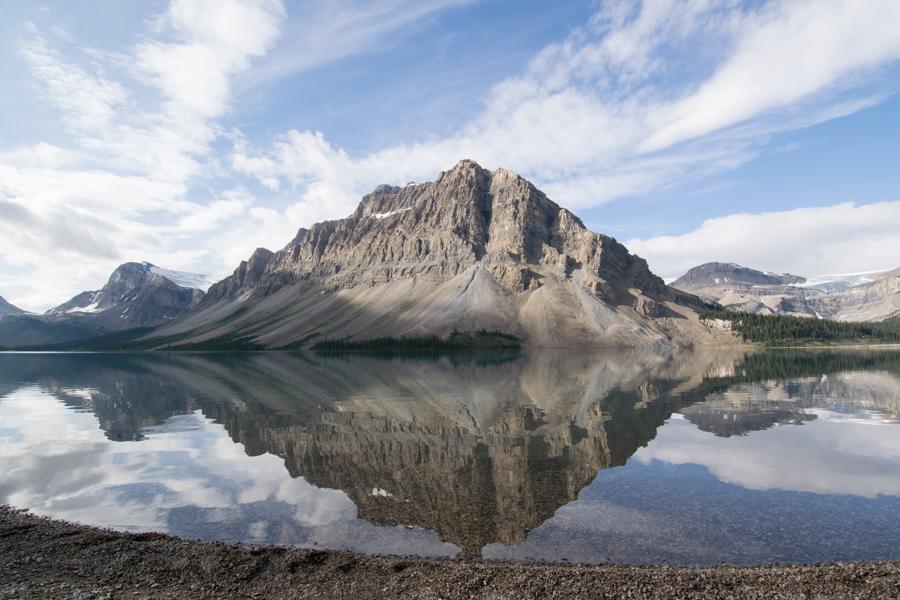 beautiful Bow Lake, near Banff Canada