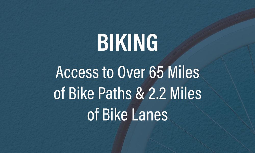 Multiple Opportunities for Biking in Algonquin