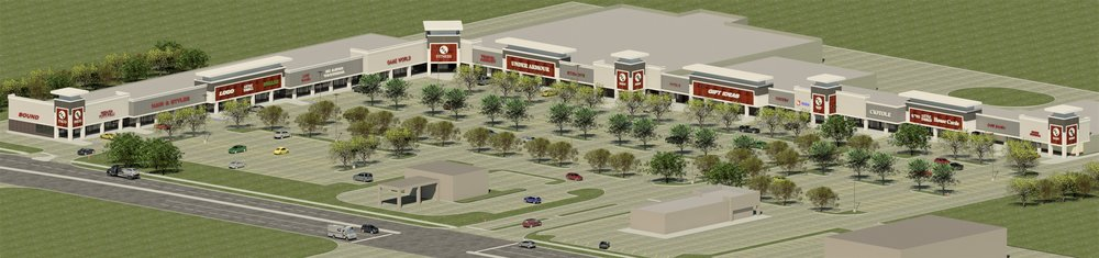 Rendering of the new East Algonquin Town Center