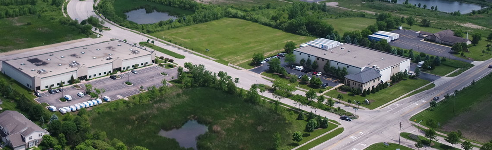 Aerial View of the Available Properties in the Algonquin Corporate Campus