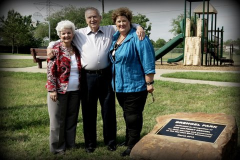 - Brengel Park was dedicated in recognition of Bob and Penny Brengel for their service and generosity to the Harvest Bend Community.