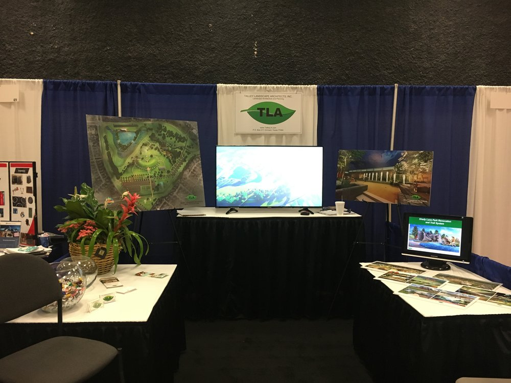 - Talley Landscape Architects, Inc. had a successful 2017 Association of Water Board Directors Conference in Corpus Christi, Texas. Glad to see many familiar faces and two lucky winners went home with beautiful plants.