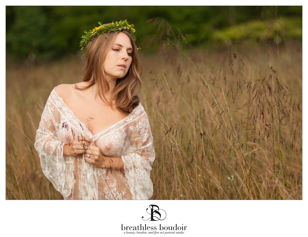 charlottesville fine art nude photography in field