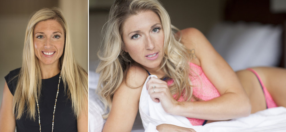 before and after virginia boudoir photoshoot makeover
