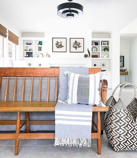 A space styled by Lark Interiors featuring an Azulina Home Cuatro Tetas basket and Chusco Pillow