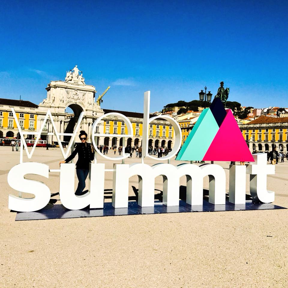 At Web Summit 2017 in Lisbon.