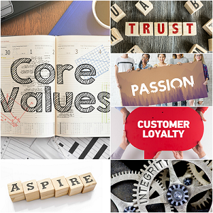 Collage pics core values recruitment