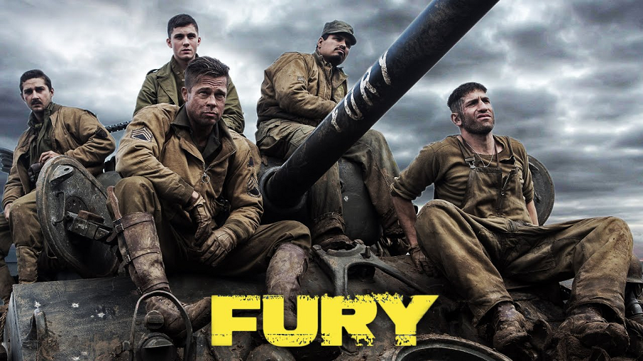 Fury movie ad with actors