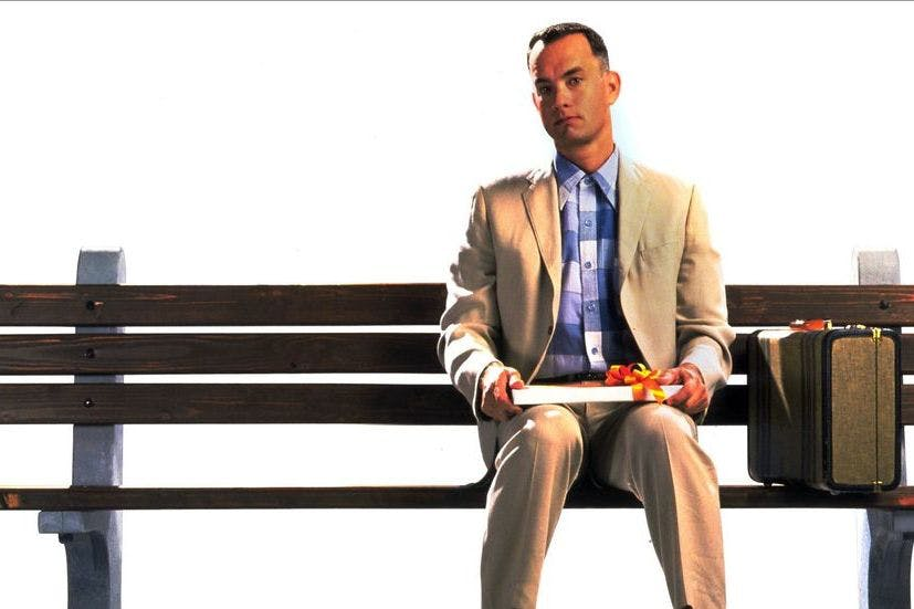 Forrest Gump movie Tom Hanks sit bench