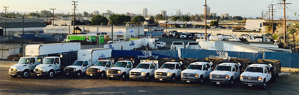 Our fleet of Stake-bed & Box-van gear trucks