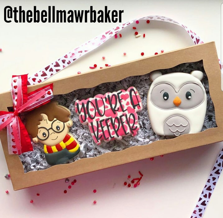 maDE BY @THEBELLMAWRBAKER USING OUR hP CUTIE, YOU'RE A KEEPER PLAQUE AND OUR ELLIE OWL COOKIE CUTTER.