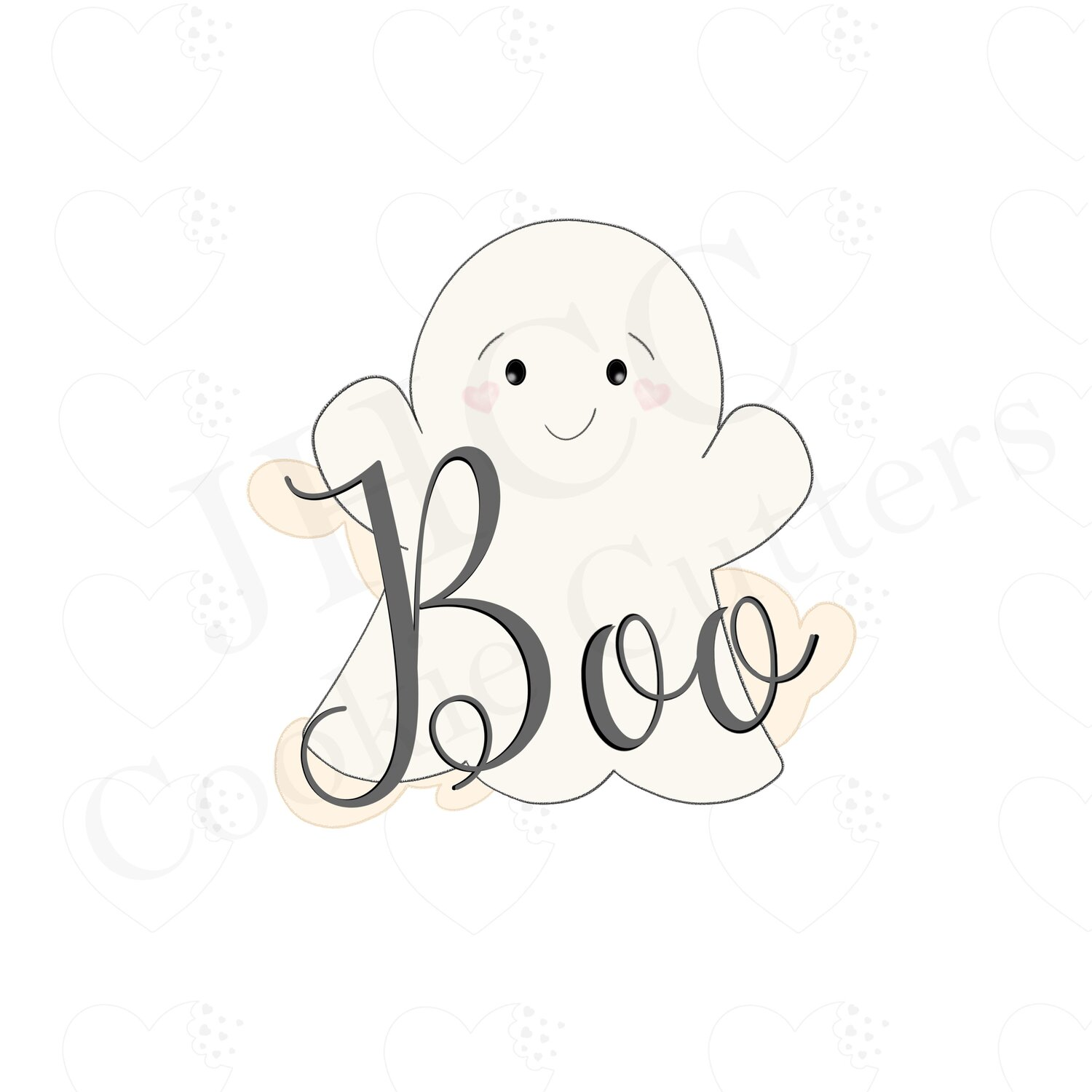 Ghost 3.5/'/' Cookie Cutter New Halloween BOO!