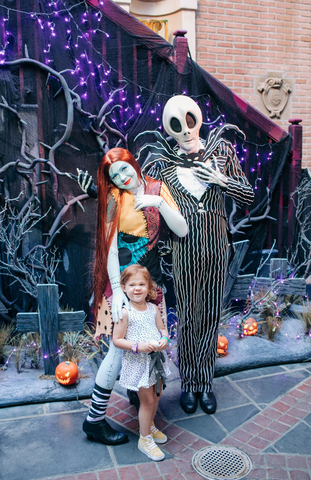 "The Jack and Sally meet and greet in New Orleans Square is a MUST if you are fans of The Nightmare Before Christmas! We love this movie and meeting the main characters was such a highlight. We'll definitely go say ""Hi"" to them a few more times before the holidays are over."
