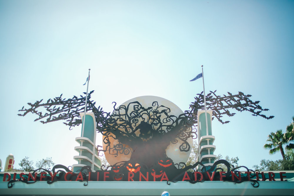 The entrance to Disney California Adventure is the best! You can even hear Oogie Boogie's laugh as you enter the park.