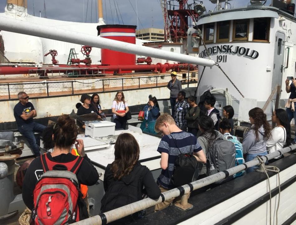 10 minute outdoor lecture by IPHC and DSFU staff and then hands-on learning and exploration of Halibut and Sablefish fisheries and the historic F/V Tordenskjold.