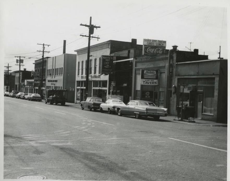"""Circa late 1970s, """"Fishermen's Building"""" in the background"""