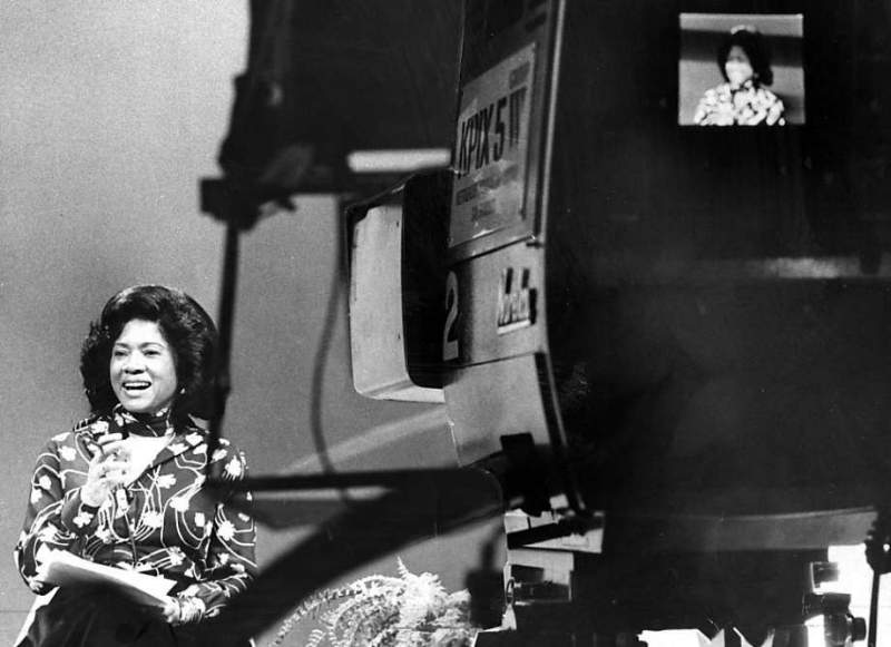 Belva Davis, the first African-American woman to become a television reporter on the U.S. West Coast. /  The Black Diaries