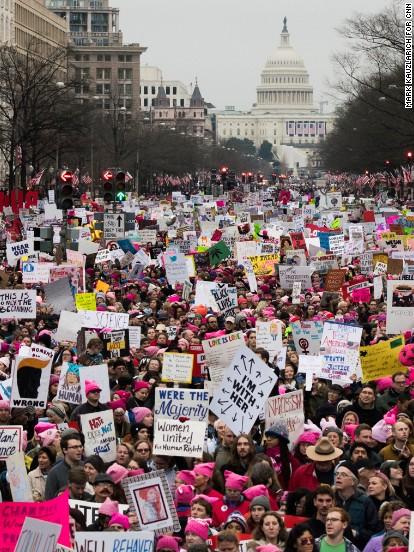 The 2017 Women's March in D.C. /  CNN