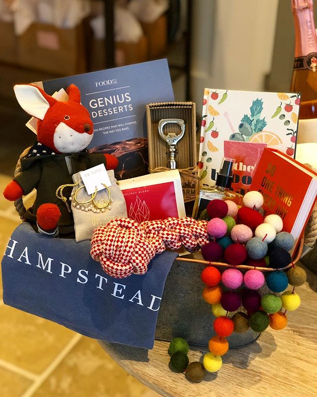 """Stressed for time? We'll make your #holidayshopping as easy as can be. We've got #holiday #giftbaskets themes for everything, like this """"For The Family"""" #gift that's ready to wrap. Something for everyone including #cookbooks #kidstoys #dogtoy #jewelry #coffee and more. Perfect surprise for a #hostessgift or #christmas and #hanukkah 🎁 #shopping #shoppingdone #shoplocal #shopsmall #thoughtfulgifts #uniquegifts #designstore #leolaandcroff #leolacroffshop #alabama #montgomery #christmascountdown"""