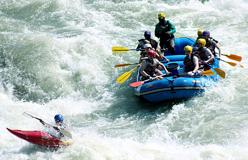 Trishuli is a famous destination for rafting in Nepal.
