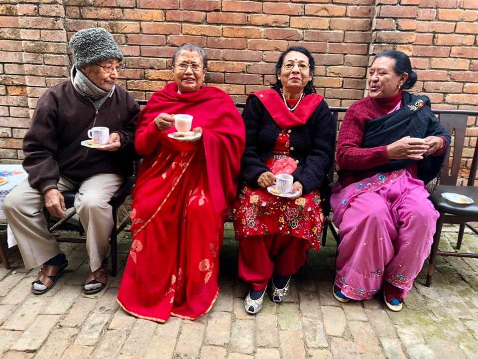 Live  #AskAnAji  session with Aji's makers — with Jagat Ratna Tuladhar, 86, Champa Devi Tuladhar, 76, Sushila Sthapit, 73 and Ram Maya Maharjan, 66 at Maitidevi, Kathmandu.