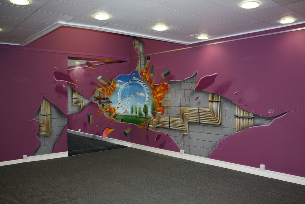 3d Anamorphic Art London
