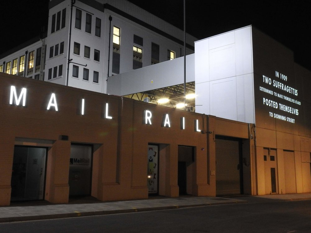 Projection Advertising Mail Rail London